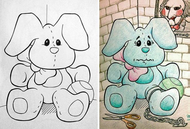 Funny coloring corruptions children books