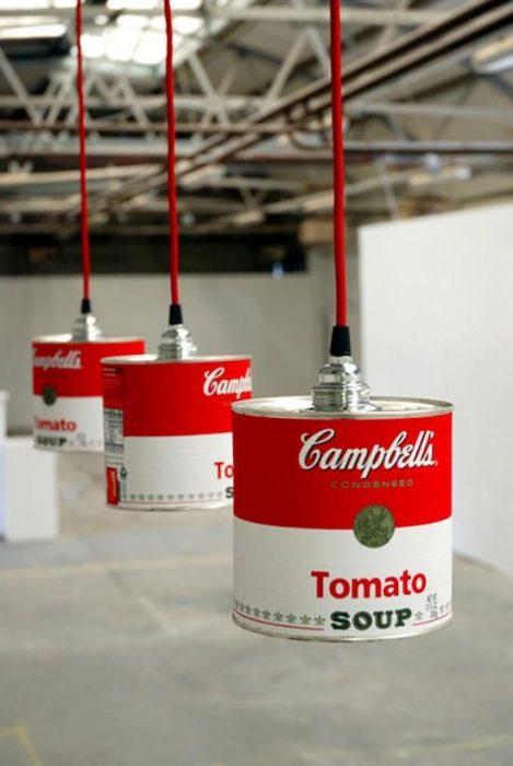 lámparas de latas