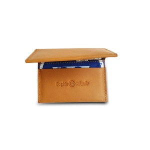 mustard leather cardholder