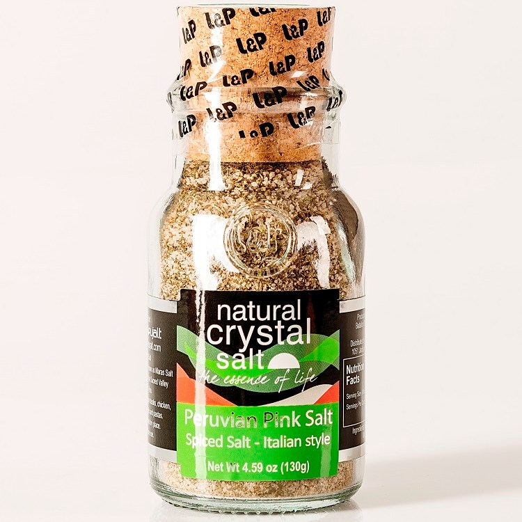 Italian Style Spiced Peruvian Pink Salt