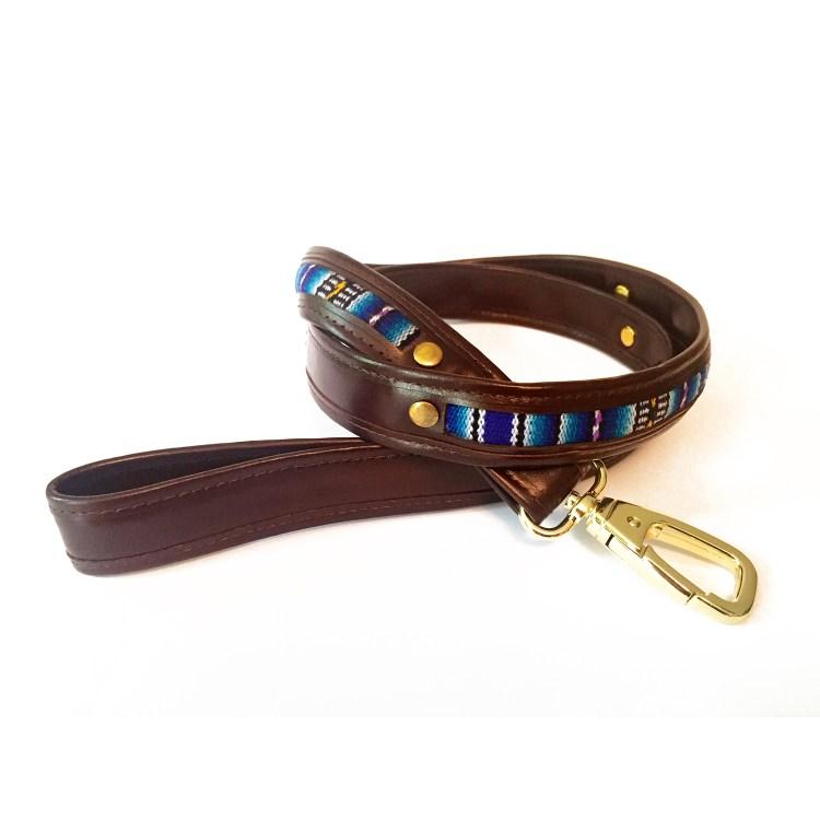 leather-textile dog leash