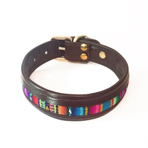 leather-textile dog collar