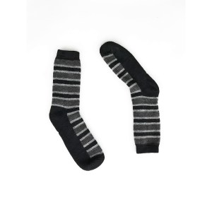 Multi Stripes Alpaca Wool Socks BK