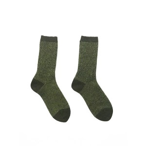 Green Alpaca Wool Socks