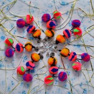 Colorful Handmade Pom Pom Keychain