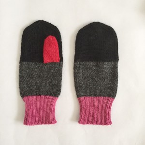Alpaca Color Block Mittens