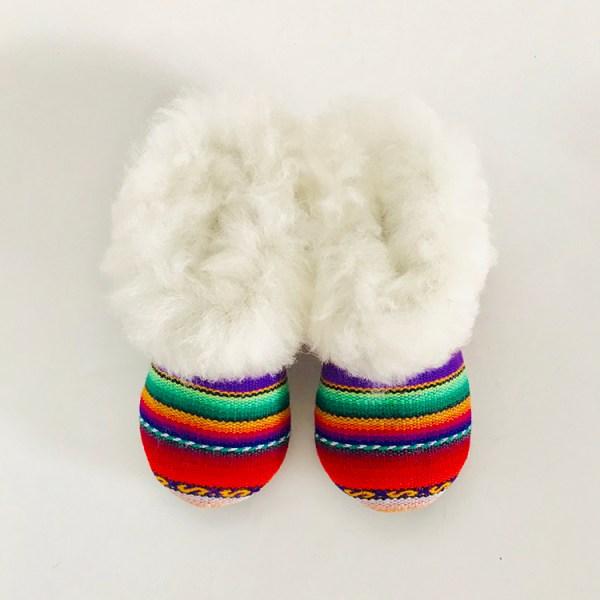 Rainbow Alpaca Fur slippers