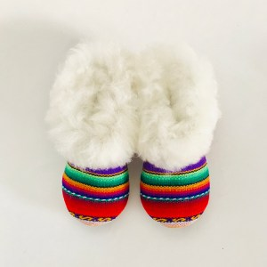 Rainbow Alpaca Fur slippers