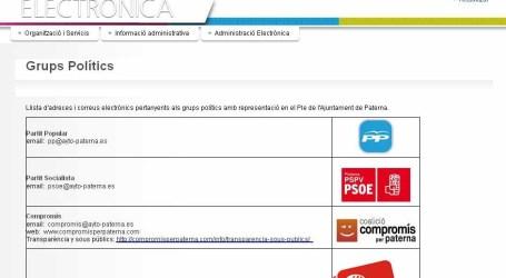 Juanma Ramón reclama al PP de Paterna un Portal de la Transparencia