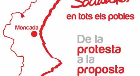 El viernes llega a Moncada la campaña 'Socialistas en todos los pueblos'