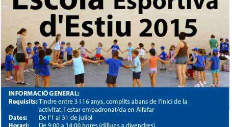 Llega en julio a Alfafar la Escola Esportiva d'Estiu