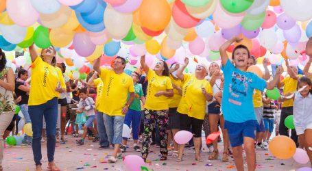 Una globotà inicia las fiestas del barrio de la Avenida de la Paz de Mislata