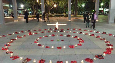 Sabates rojes a Xirivella per recordar a les víctimes de les violències masclistes