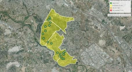 Paterna instal·la sensors de detecció d'incendis en la Vallesa