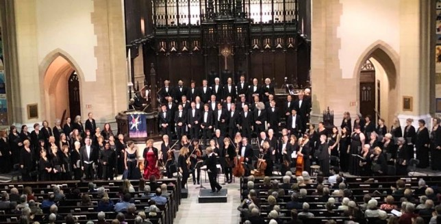 Elmer Iseler Singers with Amadeus Choir and guest soloists and orchestra on Nov 30, 2018 at the Metropolitan United Church