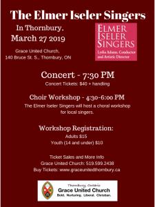 Elmer Iseler Singers Workshop and Concert in Thornbury