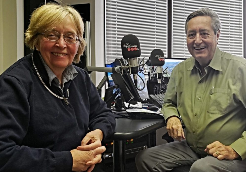 Lydia Adams with radio host Bill Anderson