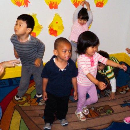 dancing preschoolers