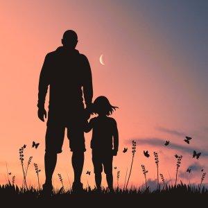 love, dad, silhouette