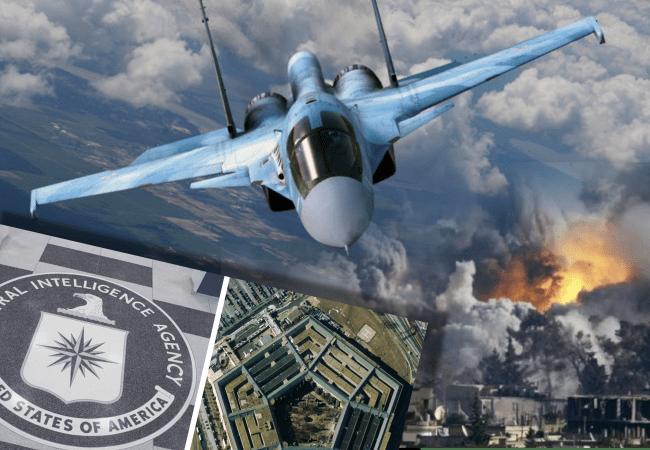 CAZAS RUSOS DESTRUYEN UNA BASE MILITAR SECRETA DE EEUU Y REINO UNIDO EN SIRIA