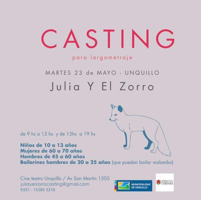 Casting para Julia y el Zorro