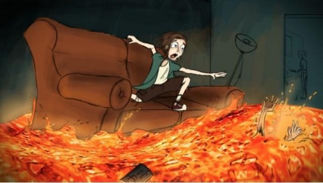 """""""¡El suelo es lava!"""", el reto viral inspirado en un cuento clásico 1"""