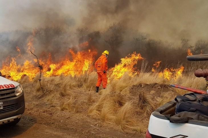 Se mantiene muy alto el riesgo de incendios en toda la provincia 10