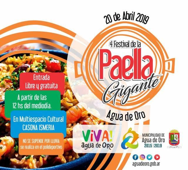 Llega la IV Edición del Festival de la Paella Gigante en Agua de Oro 2