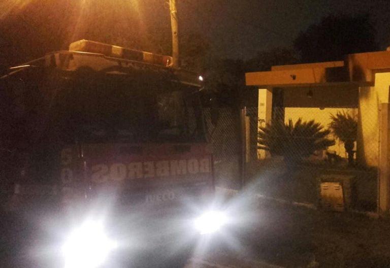 Incendio en una casa de Villa Allende