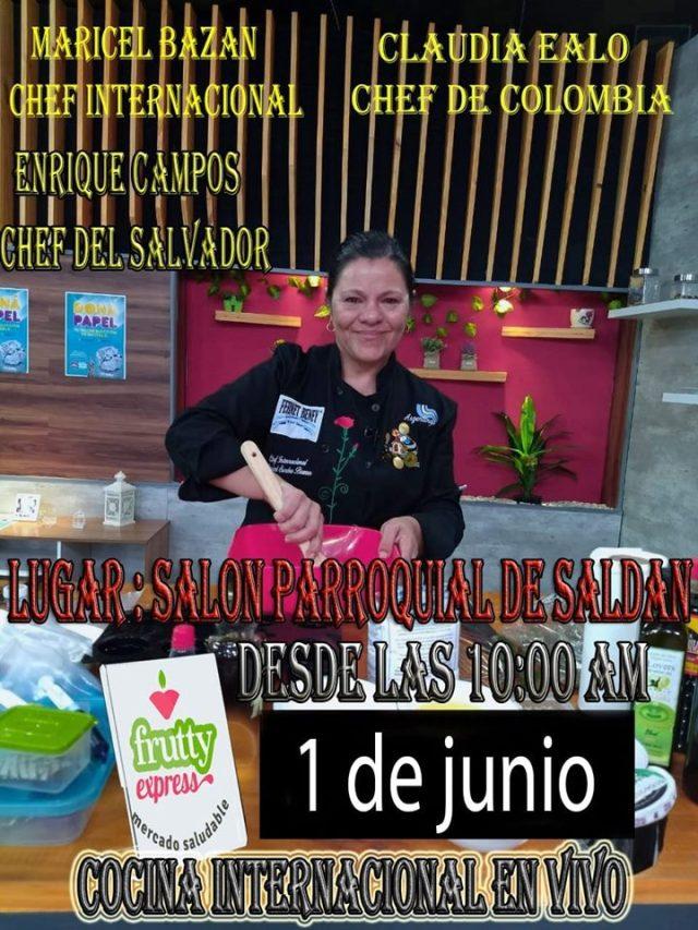 Invitan a un evento de Cocina Internacional en Saldán 2