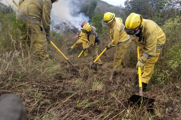 La Calera: incendio en barrio La Campana 5