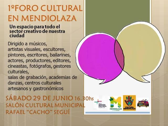 Cultura para todos: Se acerca el primer foro cultural de Mendiolaza 2