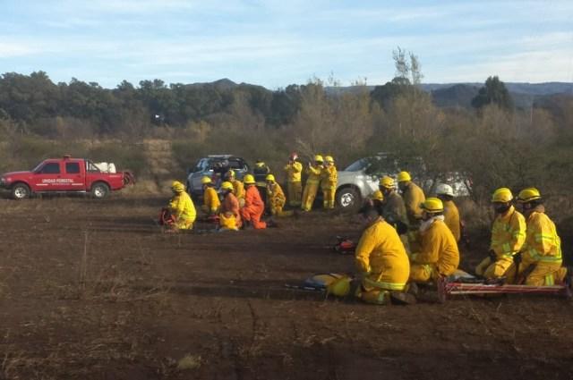 Incendio en Alpa Corral: 60 bomberos trabajarán toda la noche 3