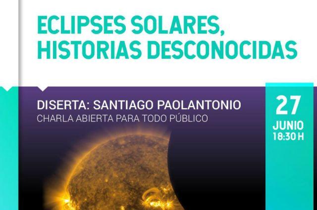 Charla sobre eclipses solares en Plaza Cielo Tierra 2
