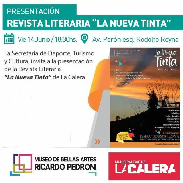 """Invitan a la presentación de la revista literaria """"La nueva Tinta"""" en La Calera 2"""