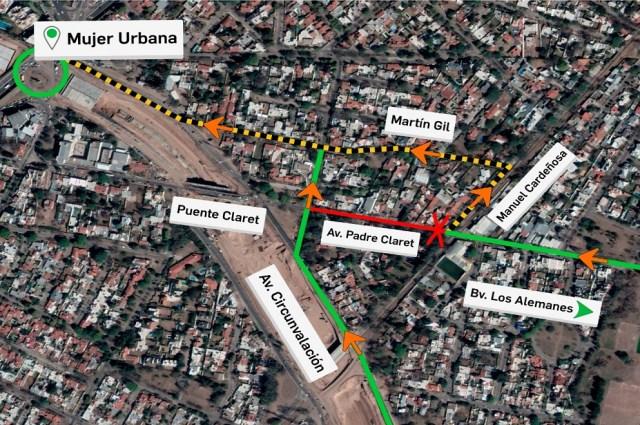 Circunvalación Córdoba: cierran tramo de Padre Claret por obras hidráulicas 4