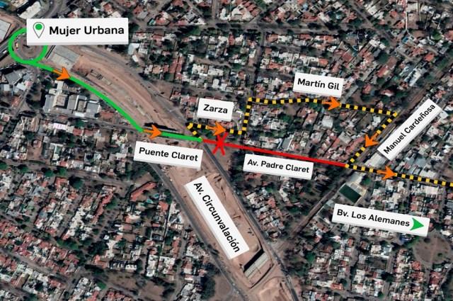 Circunvalación Córdoba: cierran tramo de Padre Claret por obras hidráulicas 3