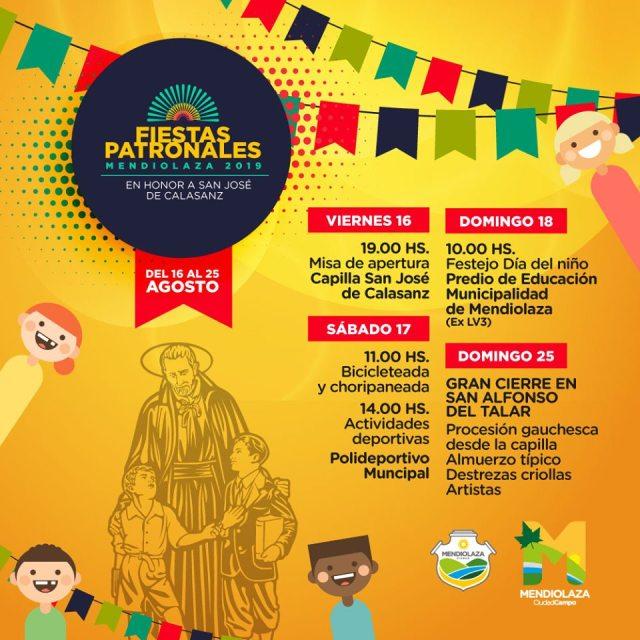 Cronograma de las Fiestas Patronales de Mendiolaza 1