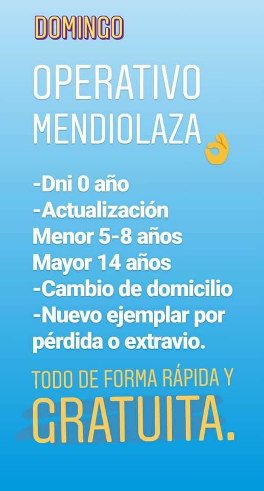 Renaper estará este domingo en Mendiolaza 6