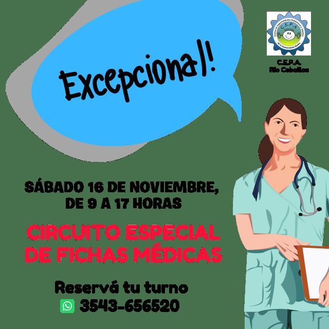 Certificados escolares: el Centro de Especialidades Pediátricas y Adultos de Río Ceballos informa sus novedades 23