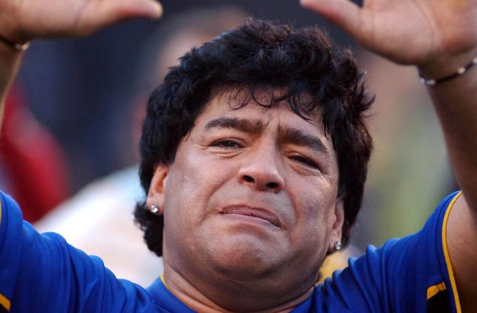 Buenos Aires: Fotografía de archivo del 10/11/2001 de Diego Armando Maradona, quien cumple 60 años mañana. Foto: Claudio Fanchi/Télam/cbri 29102020