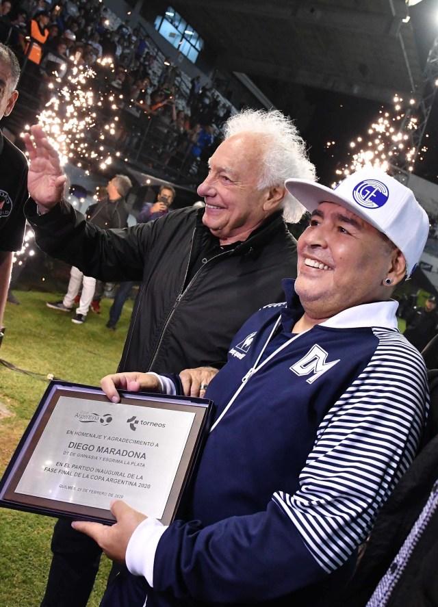 Buenos Aires: Fotografía de archivo de 25/02/2020  de Diego Armando Maradona., quien cumple 60 años mañana. Foto: Alfredo Luna/Télam/cbri 2910202