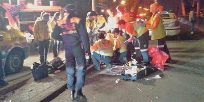 Un joven muere atropellado al atravesar la Castellana indebidamente. Foto: Emergencias Madrid