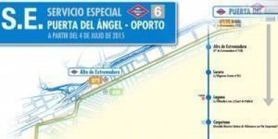 Los usuarios de la línea 6, sin conexión entre Puerta del Ángel y Oporto.