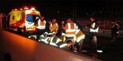 Una mujer fallecida y un hombre herido muy grave, en un accidente de moto. Foto: Emergencias Madrid