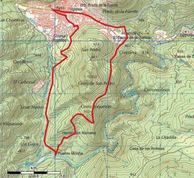 Mapa Ruta Valmaqueda río cofio