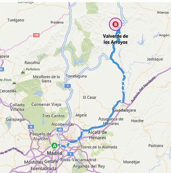 Cómo llegar a Valverde de los Arroyos