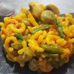 Receta de fideuá de verduras
