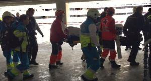Herido un obrero en el Wanda Metropolitano