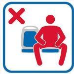 Pictogramas contra el 'manspreading' en los autobuses